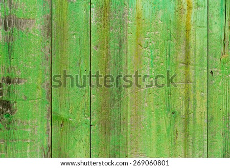 Alcudia Old Town aged green door wood texture Mallorca Balearic island of Spain - stock photo
