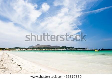 Alcudia on the island Majorca in spain - stock photo