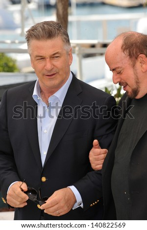 "Alec Baldwin & director James Toback at photocall for their movie ""Seduced and Abandoned"" at the 66th Festival de Cannes. May 21, 2013  Cannes, France"