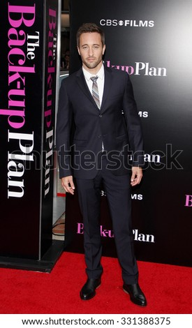 """Alex O'Loughlin at the Los Angeles premiere of """"The Back-Up Plan"""" held at the Westwood Village Theater in Hollywood, USA on April 21, 2010. - stock photo"""