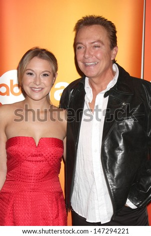 Alexa Vega & David Cassidy at the Disney & ABC Television Group Summer Press Junket at the ABC offices in Burbank, CA  on May 29, 2009