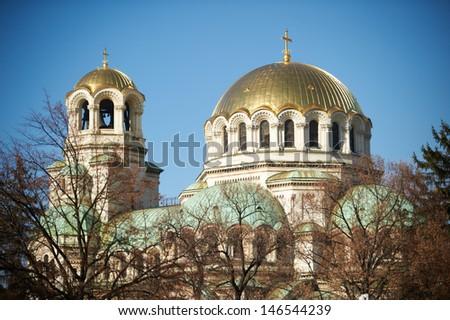 Alexander Nevski cathedral (detail) at Sofia, Bulgaria - stock photo