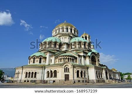 Alexander Nevski Cathedral in Sofia, Bulgaria - stock photo