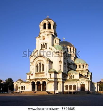 Alexander Nevski Cathedral in Sofia Bulgaria - stock photo