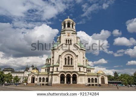 Alexander Nevsky cathedral in Sofia, Bulgaria - stock photo