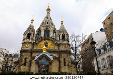 Alexander Nevsky Cathedral (Paris, France). - stock photo