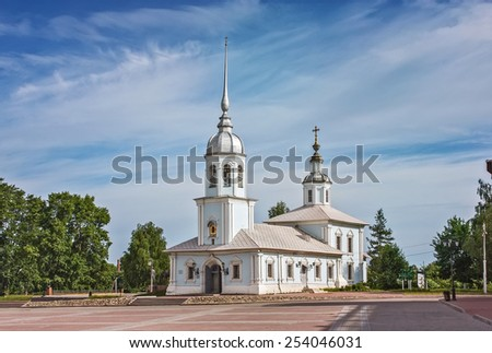 Alexander Nevsky Church is an Orthodox church in Vologda, an architectural monument of the 18 century, Russia - stock photo