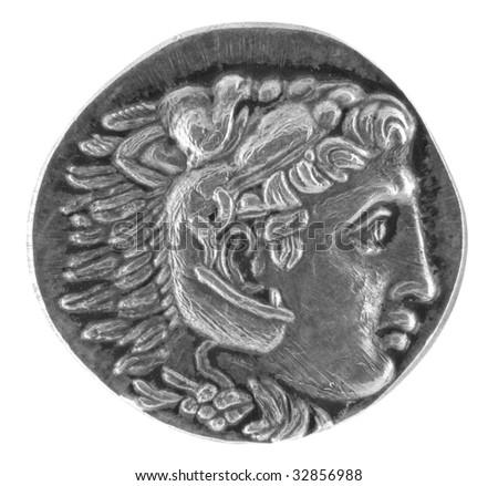 Alexander the Great Ancient Greek Tetradrachm 315 BC - stock photo