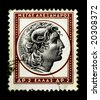 Alexander the Great on Greek stamp - stock photo