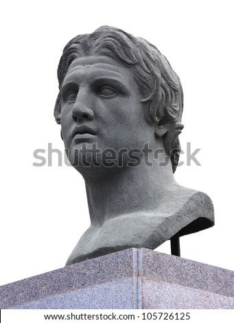 Alexander the Great Statue - stock photo