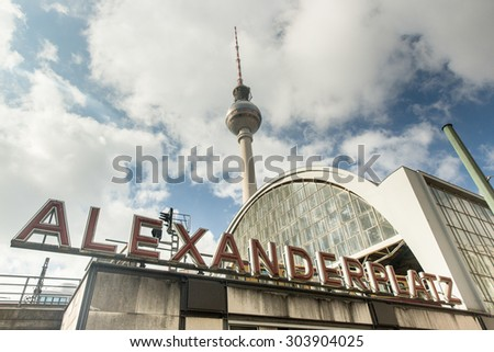 Alexanderplatz located in Berlin, Germany