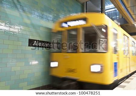 Alexanderplatz U-bahn (metro) station at Berlin, Germany - stock photo