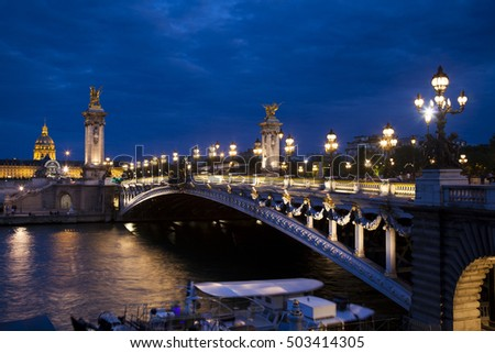 Alexandre III bridge, Paris, Ile-de-france, France