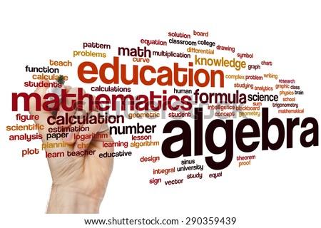 Algebra word cloud concept - stock photo