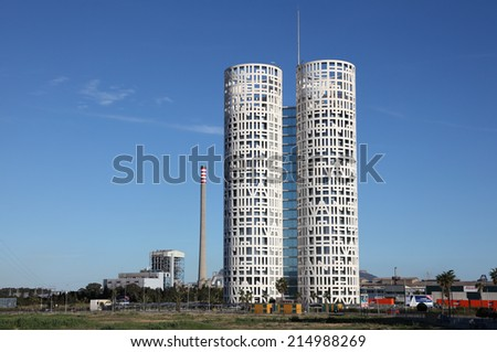 ALGECIRAS, SPAIN - APR 8: Modern office tower in Algeciras. April 8, 2013 in Algeciras, Province of Cadiz, Andalusia, Spain