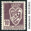 ALGERIA - CIRCA 1946: stamp printed by Algeria, shows arms, circa 1946. - stock photo
