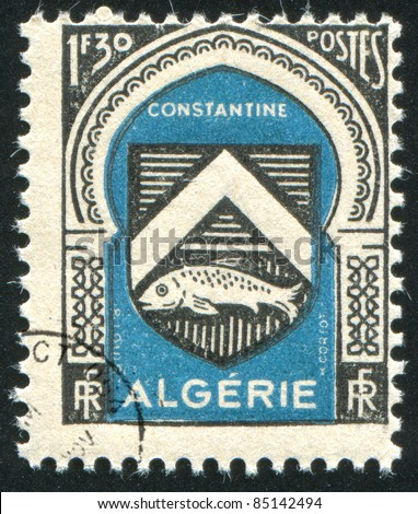 ALGERIA - CIRCA 1946: stamp printed by Algeria, shows arms, circa 1946.