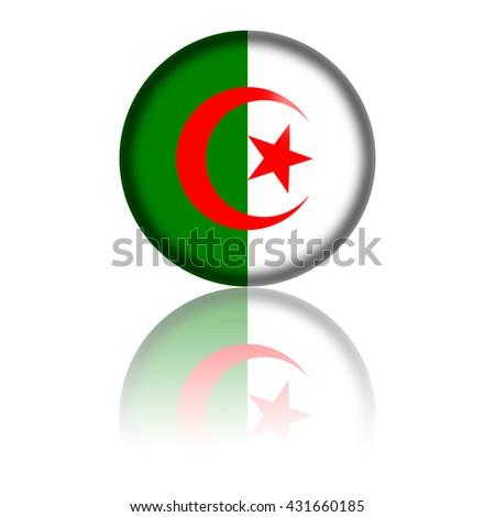 Algeria Flag Sphere 3D Rendering - stock photo
