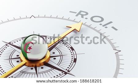 Algeria High Resolution ROI Concept - stock photo