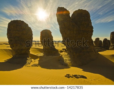 Algerian Sahara - stock photo