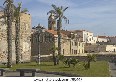 Alghero, Sardinia, Italy - stock photo