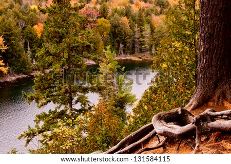 Algonquin Park In Fall - stock photo