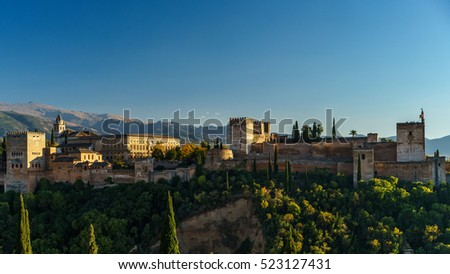 Alhambra castle panorama