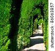 Alhambra garden in Granada, Spain - stock photo