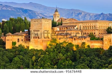 Alhambra palace, Granada, Spain - stock photo