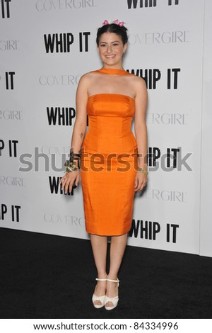 "Alia Shawkat at the Los Angeles premiere of her new movie ""Whip It"" at Grauman's Chinese Theatre, Hollywood. September 29, 2009  Los Angeles, CA Picture: Paul Smith / Featureflash"