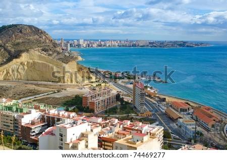 Alicante beach line, Spain - stock photo