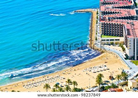 Alicante beach panoramic view - stock photo