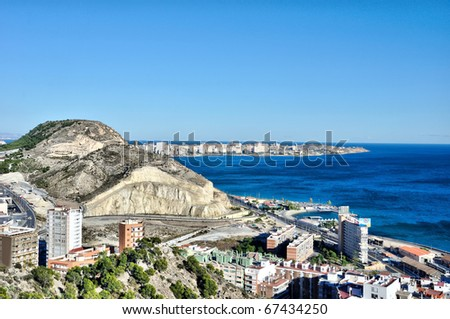 Alicante beach, Spain - stock photo