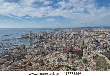 Alicante city, touristic place famous around the world, Spain.