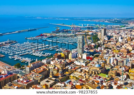 Alicante panoramic view - stock photo