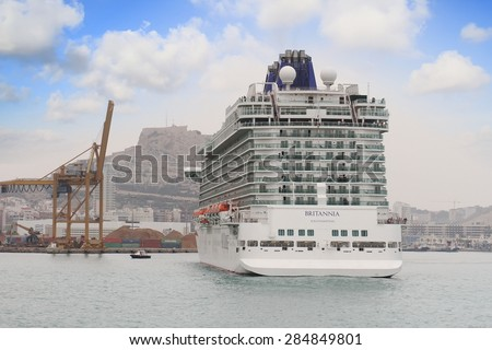 Alicante Spain April Luxury Cruise Stock Photo - April cruises