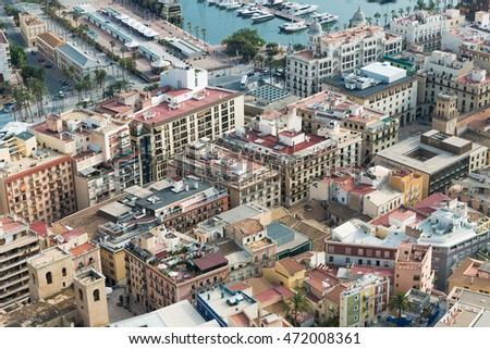 Alicante, Spain - SEPTEMBER 2015: View of the city