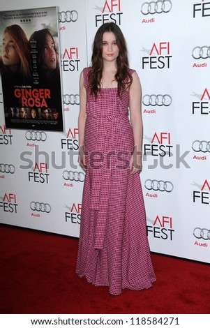"Alice Englert at the ""Ginger And Rosa"" Special Screening AFI FEST 2012, Chinese Theater, Hollywood, CA 11-07-12"