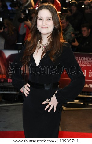 "Alice Englert at the premiere for ""Ginger and Rosa"" being shown as part of the London Film Festival 2012, Odeon West End London. 13/10/2012 Picture by: Steve Vas"