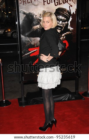 "Alice Evans at the Los Angeles premiere of ""300"" at the Grauman's Chinese Theatre, Hollywood. March 6, 2007  Los Angeles, CA Picture: Paul Smith / Featureflash"