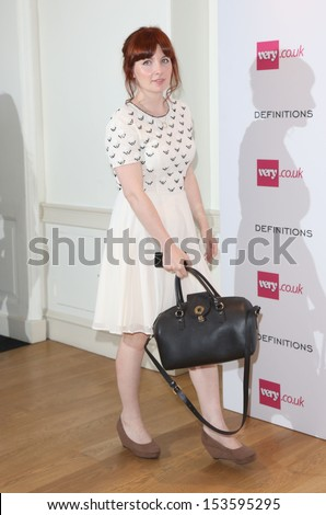 Alice Levine at the Launch party for Very.co.uk introducing the new fashion brand Definitions at Somerset House London. 04/09/2013 - stock photo
