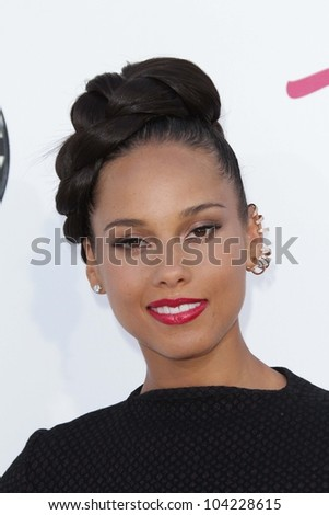 Alicia Keys at the 2012 Billboard Music Awards Arrivals, MGM Grand, Las Vegas, NV 05-20-12 - stock photo