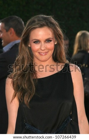 Alicia Silverstone  at the Los Angeles Premiere of 'Tropic Thunder'. Mann's Village Theater, Westwood, CA. 08-11-08 - stock photo