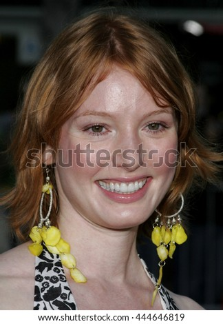 Alicia Witt at the World premiere of 'The Break-Up' held at the Mann Village Theatre in Westwood,  USA on May 22, 2006. - stock photo