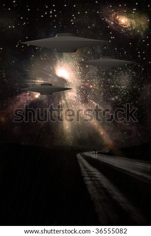 Alien Craft - stock photo