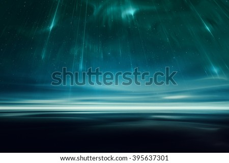 Alien fantasy landscape - stock photo