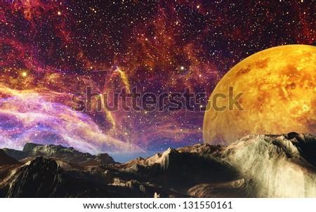 Alien Landscape - stock photo