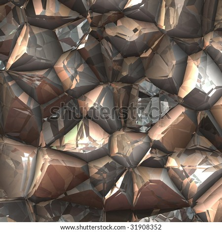 alien like rock surface in brown colour - stock photo