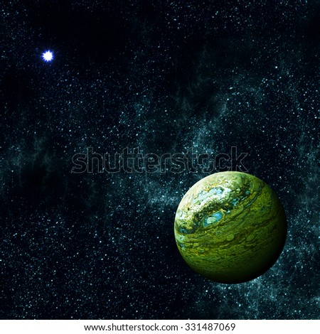 Alien Planet in the Deep Universe