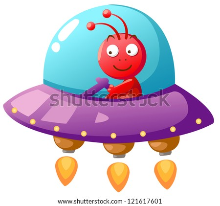 Alien Ufo.(EPS vector version id 120211354,format also available in my portfolio) - stock photo